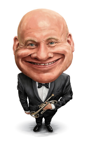 John McGough caricature